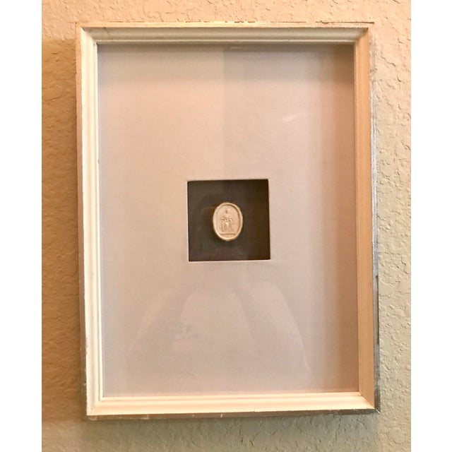 Matted and Framed Intaglio #4 For Sale - Image 4 of 4