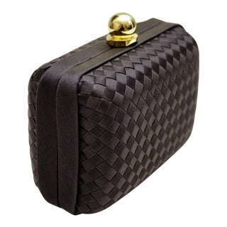 Navy Woven Fabric Trinket Box by Neiman Marcus