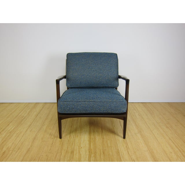 1960s 1960s Mid-Century Modern Ib Kofod Larsen for Selig Walnut Lounge Chair For Sale - Image 5 of 11