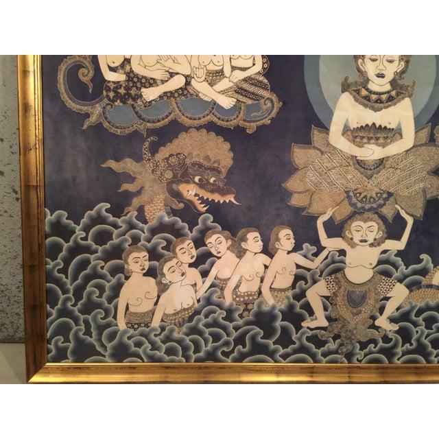 Framed Cultural Theme Indonesian Batik Artwork - Image 10 of 11