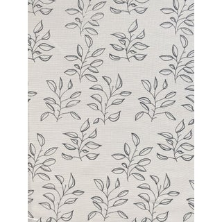 Greige Mya Fabric, 3 Yards, Azure on Oyster in Linen For Sale