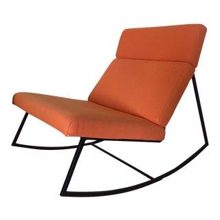 Modern Orange GT Rocking Chair For Sale