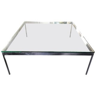 Large Square Cocktail Table by Nicos Zographos For Sale