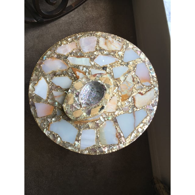 1970s 1970s Mexican Marble Side Table For Sale - Image 5 of 9