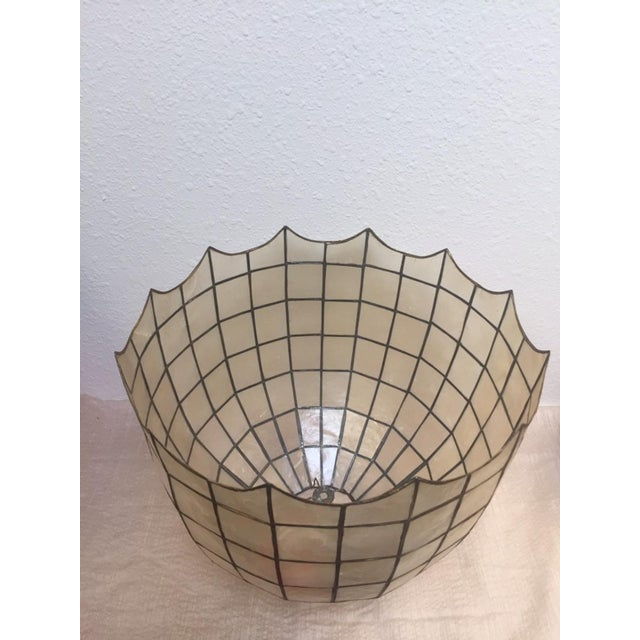 Boho Chic Vintage Capiz Shell Accent Lamp Shades For Sale - Image 3 of 6