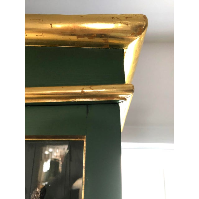 Vintage Neoclassical Style Green Painted Bookcase For Sale - Image 9 of 13