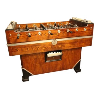 1930-1940's Wood and Aluminum Foosball Table For Sale