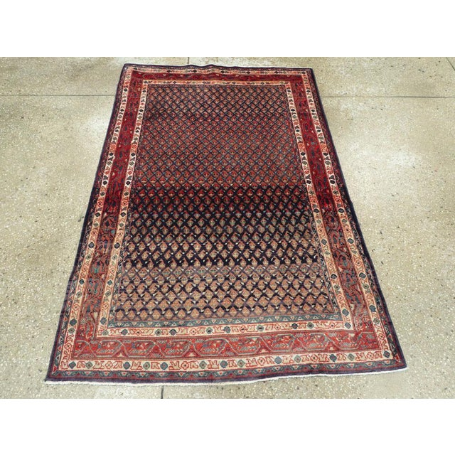 "Vintage Persian Malayer Rug – Size: 3'4"" X 5' 1"" For Sale - Image 4 of 10"