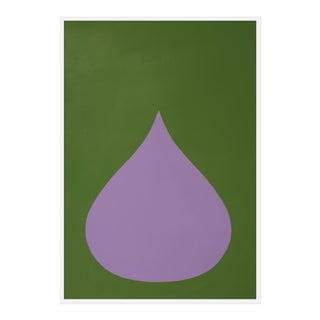 "Large ""Fat Drop of Light Violet"" Print by Stephanie Henderson, 36"" X 50"""