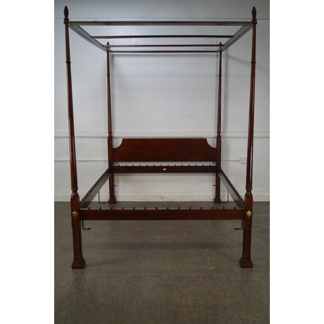 Kindel Queen Size Cherry Poster Canopy Bed - Image 2 of 10