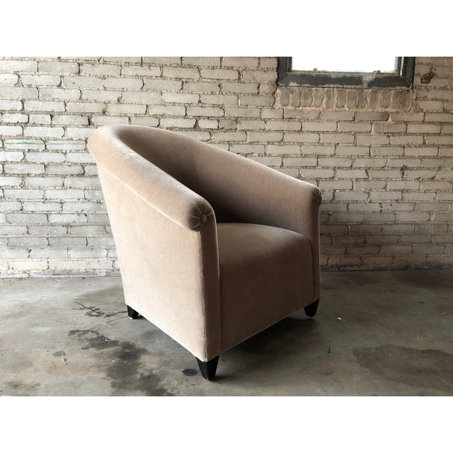 Textile Minotti Mohair Lounge Chair and Ottoman For Sale - Image 7 of 12