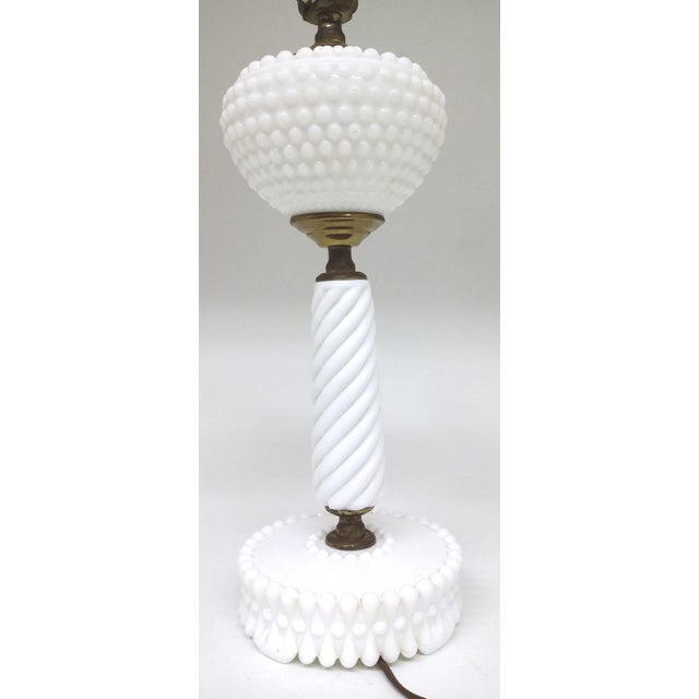 Vintage Milk Glass Table Lamp - Image 3 of 8