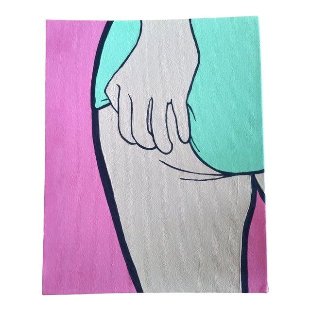 Lictenstien Inspired Original Pop Art Acrylic Painting For Sale