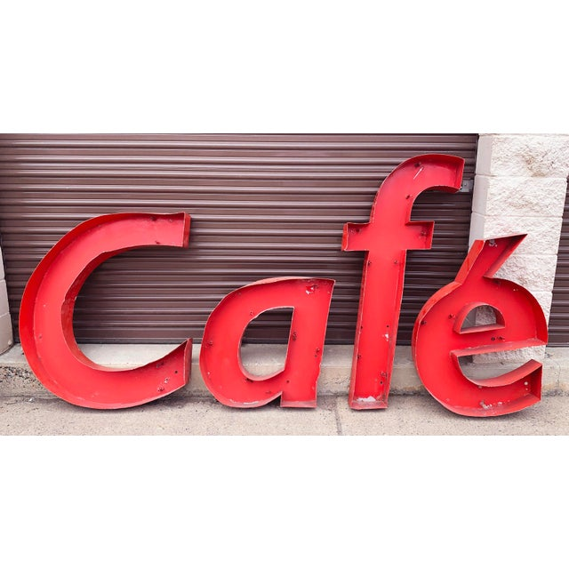 Early 20th Century Vintage French Cafe Sign For Sale - Image 13 of 13
