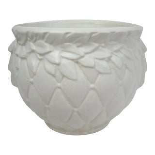 Medium McCoy Pottery White Jardiniere For Sale