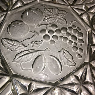Mid-Century Floral Glass Serving Dish Preview