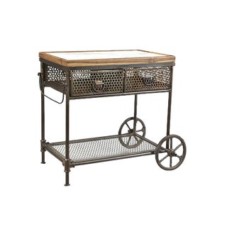 Gerard Metal Marble Wood Cart For Sale