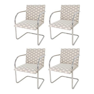 Mies Van Der Rohe for Knoll Tubular Brno Chairs - Set of 4 For Sale
