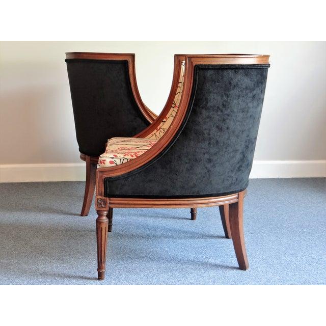 Louis XVI Barrel Chair - A Pair - Image 4 of 8