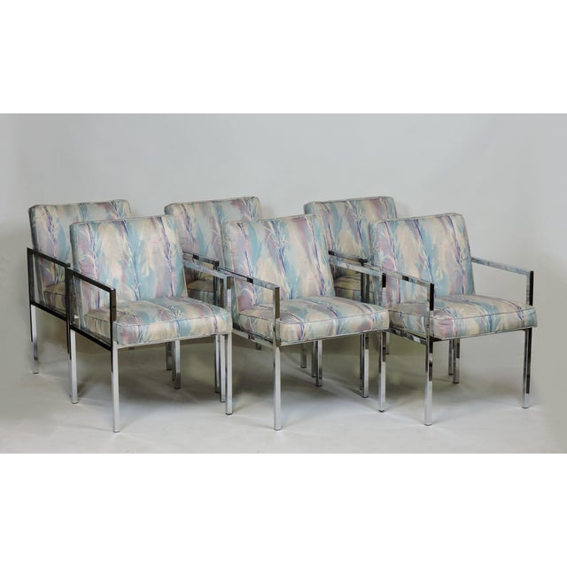 Six Design Institute of America Dia Mid-Century Modern Chrome Dining Chairs For Sale - Image 10 of 11