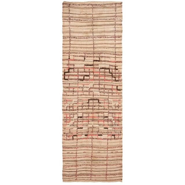 Vintage Moroccan Flat-Weave Kilim Rug - 5′3″ × 14′10″ For Sale