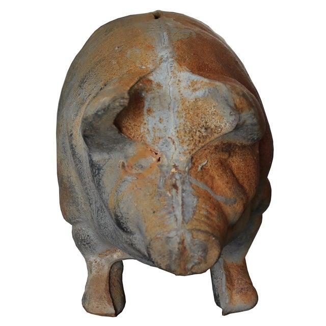 Antique Large Cast-Iron Pig Bank - Image 2 of 6