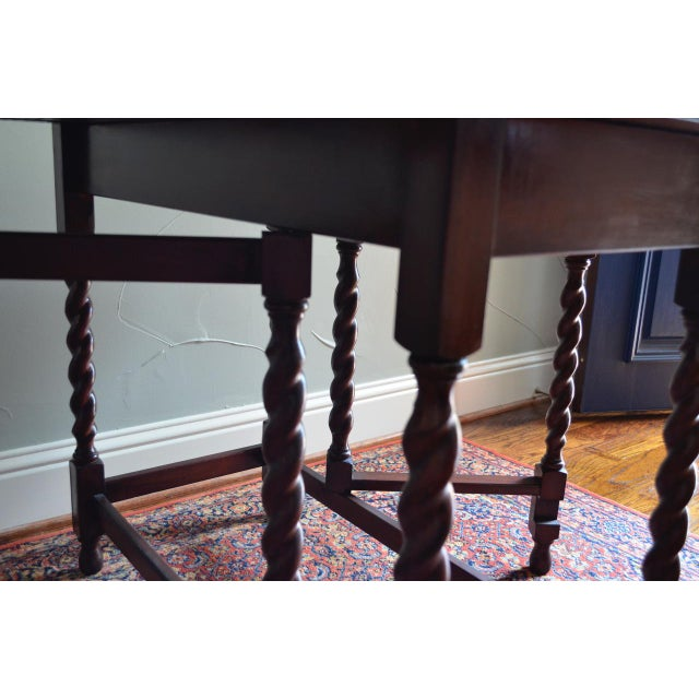 Early 20th Century Antique English Oak Table For Sale - Image 4 of 7