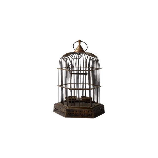 Antique Brass Bird Cage For Sale