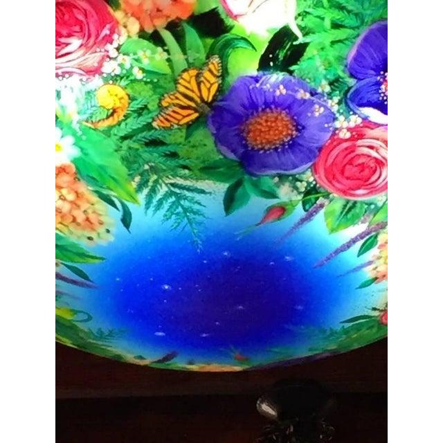 Lovely ulla darni floral blue chandelier decaso ulla darni floral blue chandelier image aloadofball Images