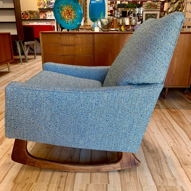 Craft Associates Vintage Mid-Century Adrian Pearsall for Craft Associates Rocking Chair For Sale - Image 4 of 11