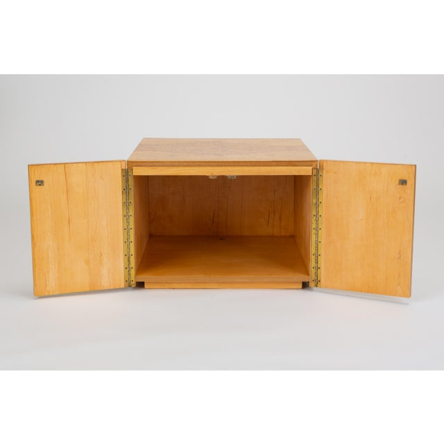 Pair of Burl Wood Side Tables or Blanket Chests For Sale - Image 9 of 11