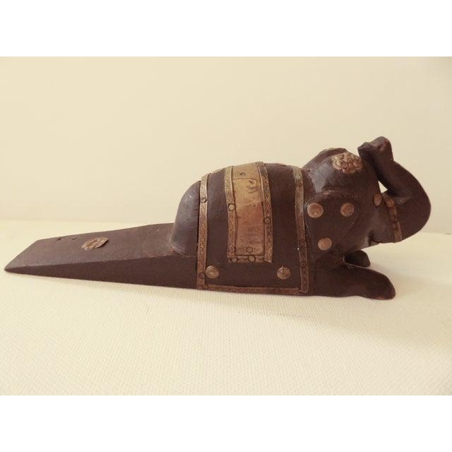 Vintage Elephant Wooden Door Stopper - Image 4 of 7