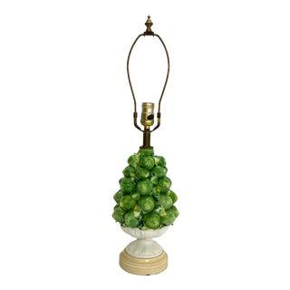 1930s Vintage Leviton Ceramic Lemon Lamp For Sale