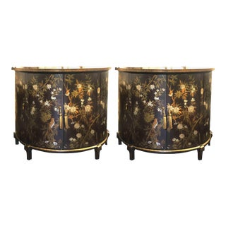 20th Century Chinoiserie Demi-Lune Commode by Decorative Crafts Inc. - a Pair For Sale