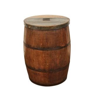 19th C. American Barrel For Sale