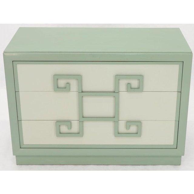 Kittinger Mandarin Style Bachelor Chest Dresser Blue and White Lacquer For Sale - Image 12 of 12