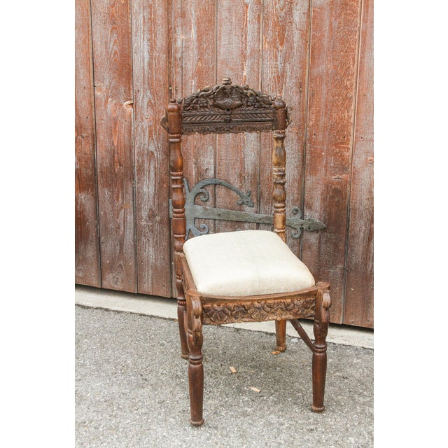 Paired Anglo Indian Peacock Chairs For Sale - Image 4 of 11