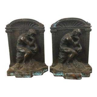 "Rodin ""Thinker"" Bronze Bookends - Pair"