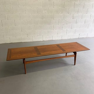 Mid-Century Modern John Stuart Cherry and Walnut Floating Coffee Table Preview