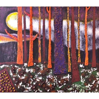 """""""Enchanted Forest"""" Contemporary Abstract Landscape Acrylic Painting For Sale"""