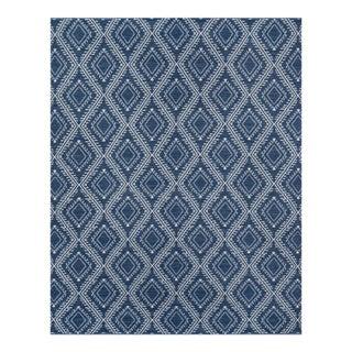 "Erin Gates by Momeni Easton Pleasant Navy Indoor/Outdoor Hand Woven Area Rug - 3'6"" X 5'6"""