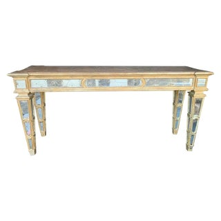 Large Mirrored Italian Console For Sale