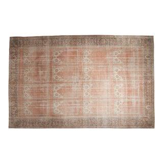 "Vintage Distressed Oushak Carpet - 11' X 16'10"" For Sale"