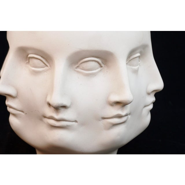 Abstract Original Tms 2005 Vitruvian Fornasetti Style Perpetual Face Vase Dora Maar Head Planter For Sale - Image 3 of 13