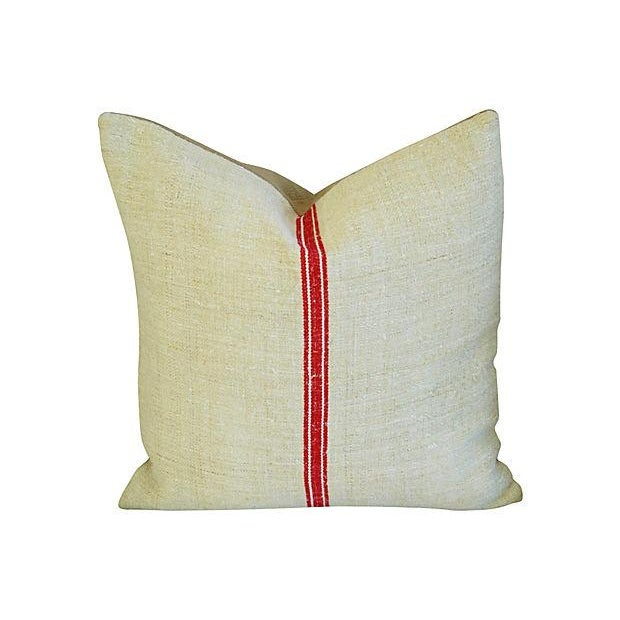 Vintage European Textile & Linen Pillows- A Pair - Image 2 of 6