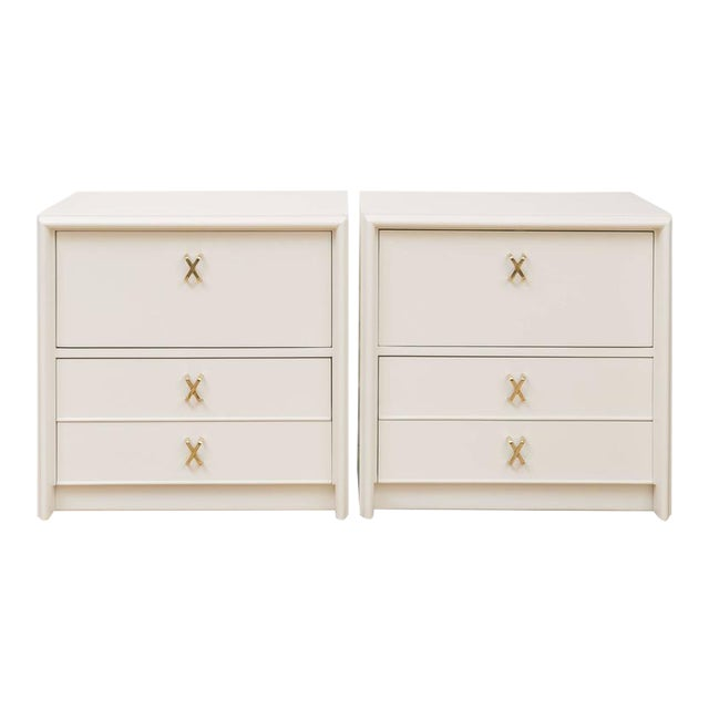 Paul Frankl Ivory Lacquered Nightstands - a Pair - Image 1 of 7