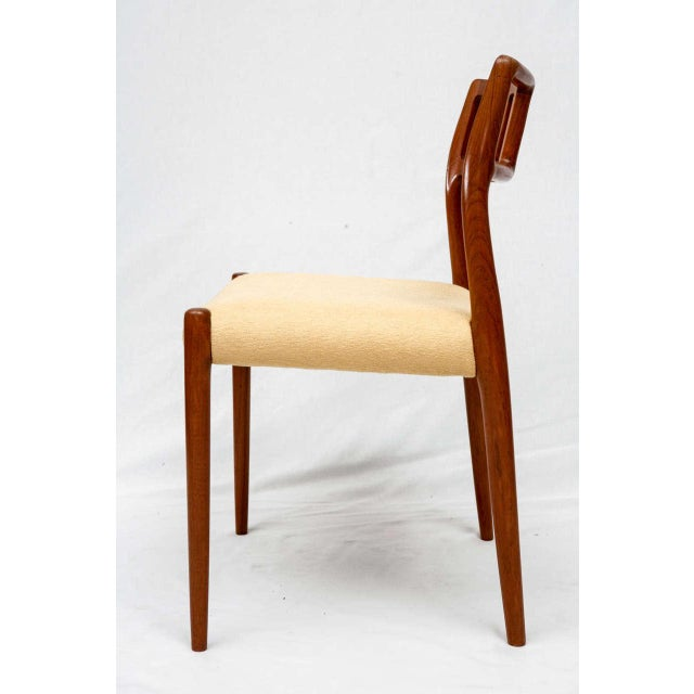 Niels Otto Møller Set of 4 Niels Moller Dining Chairs For Sale - Image 4 of 9