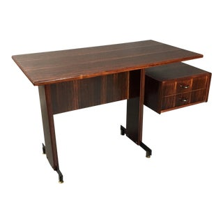 Midcentury Continental Mahogany Dressing Table or Small Desk For Sale