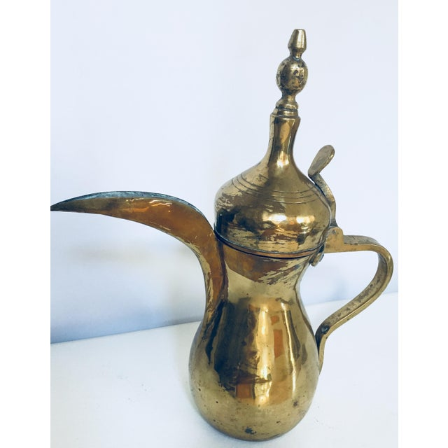 Middle Eastern Dallah Arabic Brass Coffee Pot For Sale - Image 10 of 10