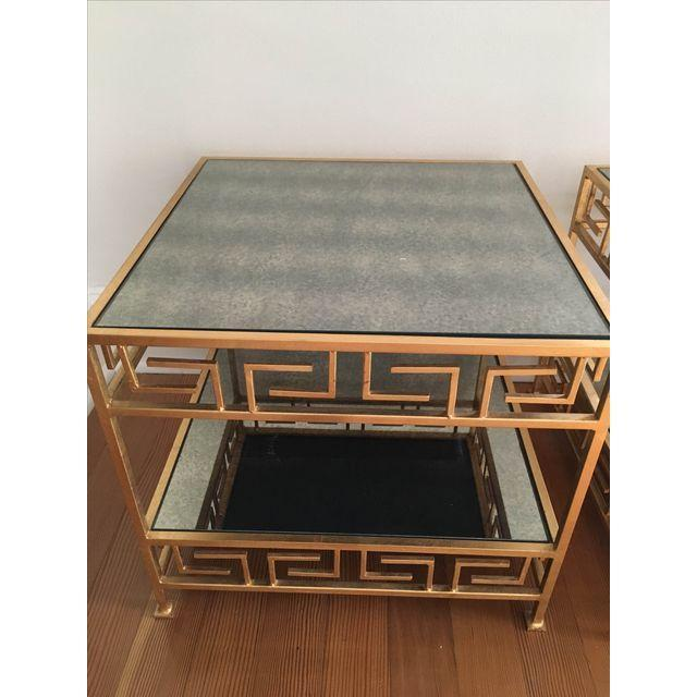 Worlds Away Greek Key Side Tables - A Pair - Image 2 of 3